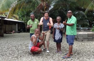 Peter and World Vision Solomon Islands staff